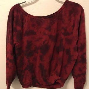 PINK Victoria's Secret Sweaters - Off The Shoulder PINK Tie Dye Crewneck